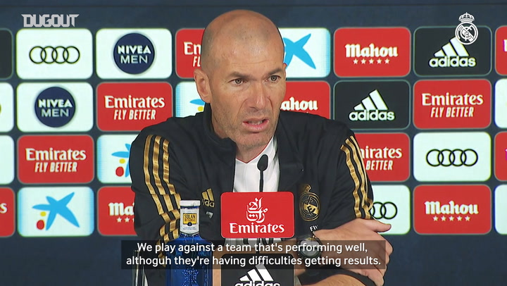 Zidane: 'It's a tough game and we'll have to give our all to win it'