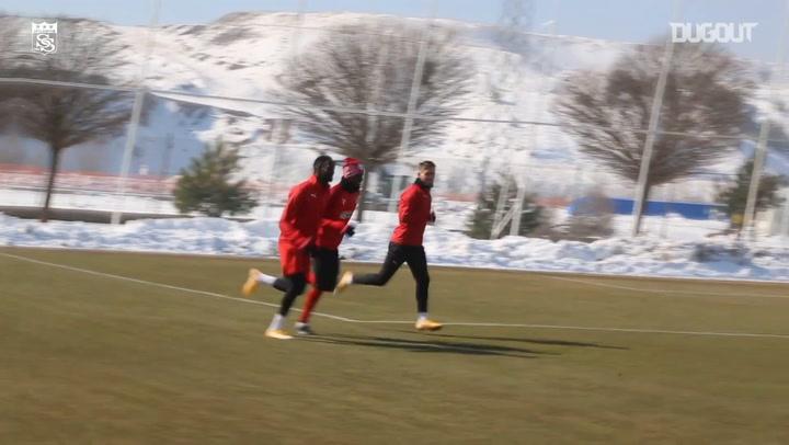 Sivasspor'un Ç. Rizespor Hazırlıkları
