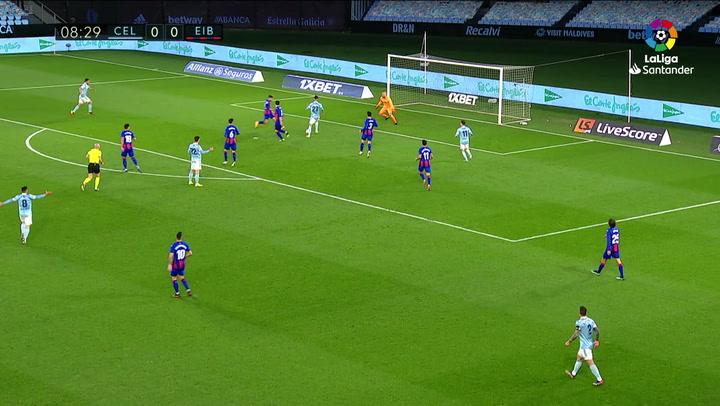 Gol de Brais (1-0) en el Celta 1-0 Eibar