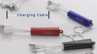 3-in-1 Light Up Charging Cables on Key Ring