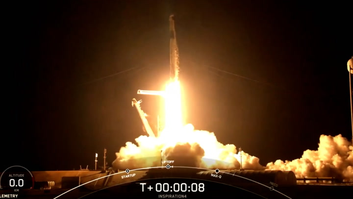 First all-civilian crew successfully launches into space