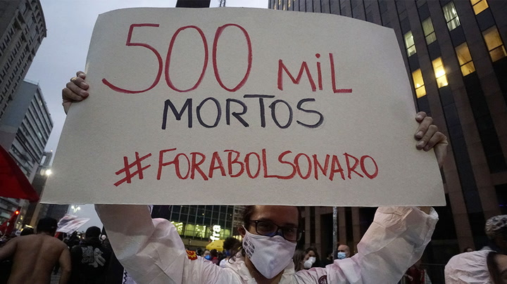 Watch live as Brazilians light 500 candles to mark 500,000 Covid deaths