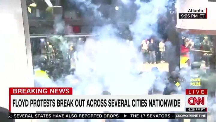 Watch: Explosive Thrown into Building During CNN Report, Crew Forced to Evacuate