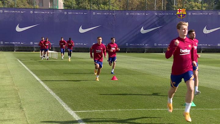 El Barça, de vuelta a los entrenamientos tras la derrota en Getafe