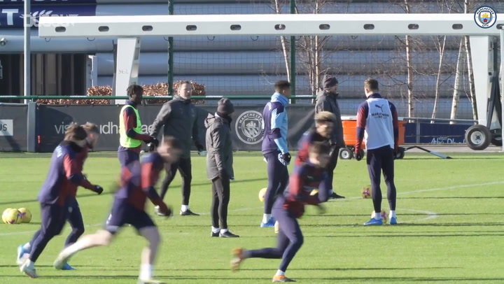 Manchester City gear up for Tottenham clash