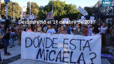 Tristeza y dolor a un año del femicidio de Micaela García
