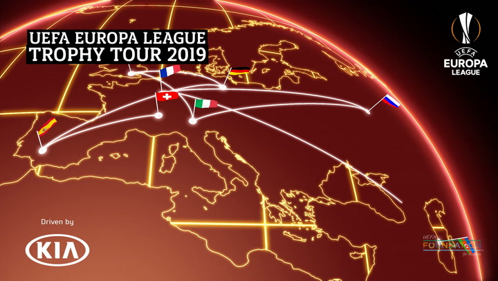 UEFA Europa League Trophy Tour 2019 | Geneva International Motor Show | Kia