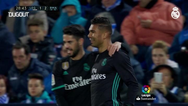 Team Goals: Casemiro Vs Leganés