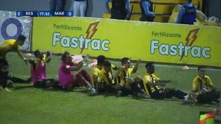 ¡GOOOOL DE REAL ESPAÑA! Darixon Vuelto marca vía lanzamiento penal 2-0 ante Marathón
