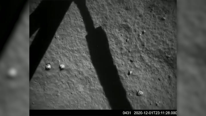 Chinese probe successfully lands on the moon