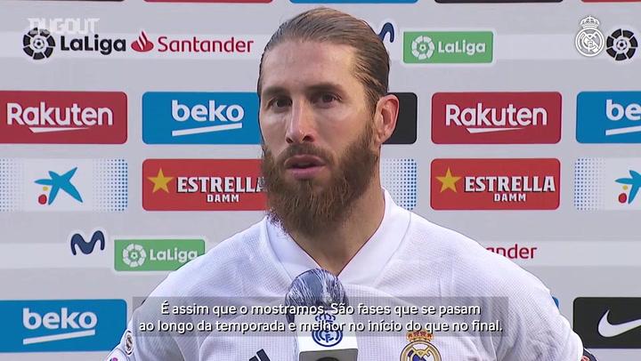 Sergio Ramos comemora vitória sobre o Barcelona e destaca união do Real Madrid