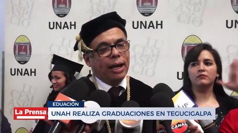 UNAH realiza graduaciones en Tegucigalpa