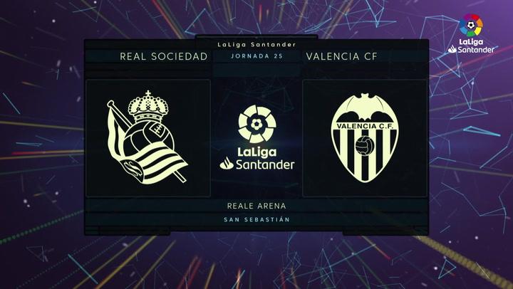 LaLiga Santander (J25): Resumen y goles del Real Sociedad 3-0 Valencia