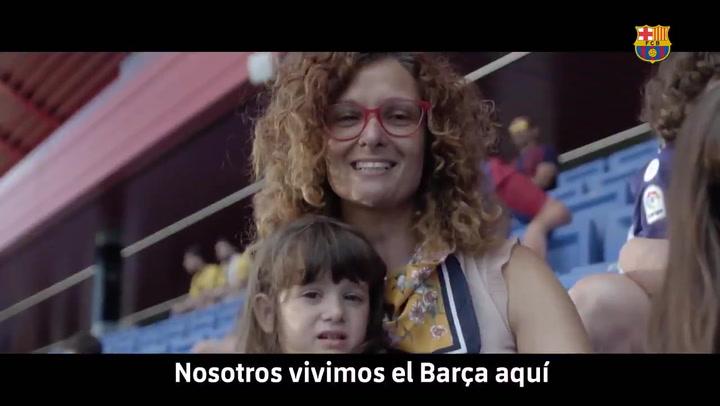 El Barça ya promociona la inauguración del estadio Johan Cruyff