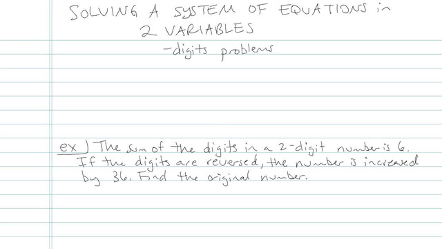 Solving a System of Linear Equations in Two Variables - Problem 16