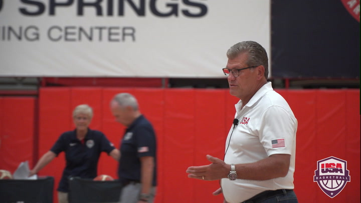 2017 USA Women's U23 Lead Clinician Geno Auriemma