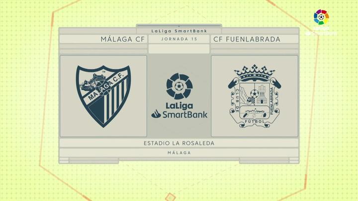 LaLiga SmartBank (J15): Resumen del Málaga 0-0 Fuenlabrada