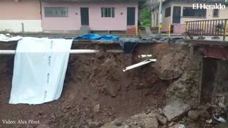 Muro de colonia Kassandra continúa cediendo por las lluvias