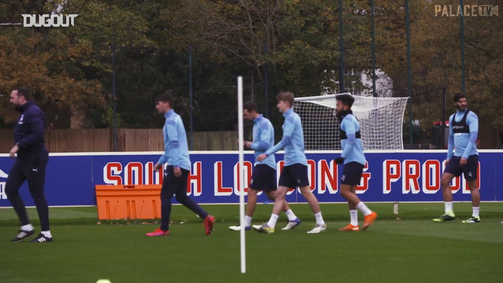 Academy players join Palace's first team in training