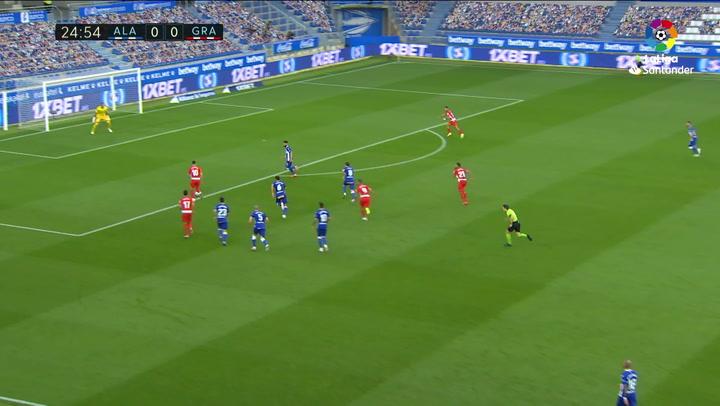 Gol de Antoñín (0-1) en el Alavés 0-2 Granada