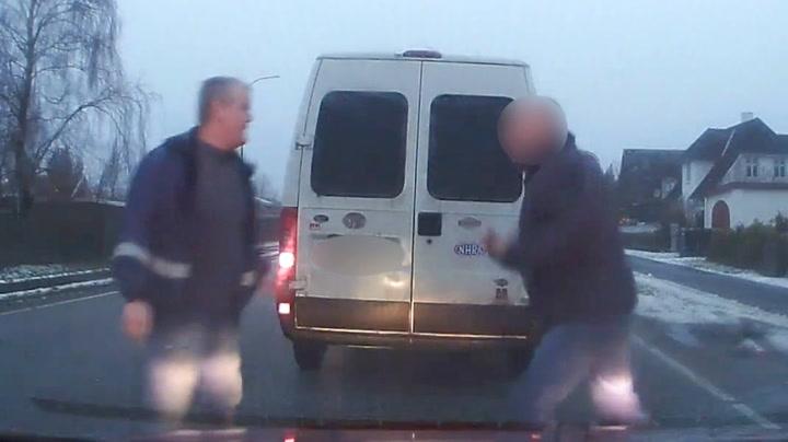 Danske Ole ble angrepet av illsint bilist