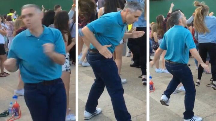 Pappa tok over dansegulvet på tenåringskonsert