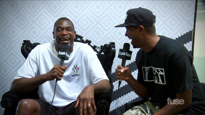 Dikembe Mutombo on Adidas at Sneaker Con