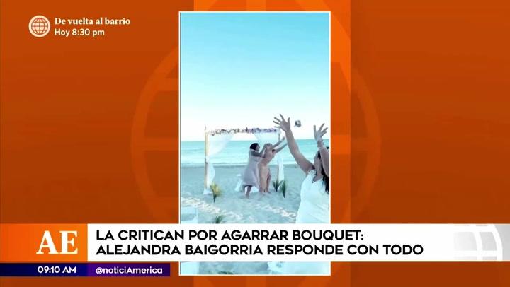 Alejandra Baigorria responde a criticas tras pelear por el ramo de novia de la mamá de Said Palao