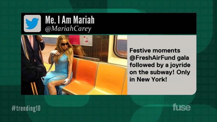 Mariah Carey Rides the NYC Subway