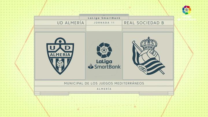 LaLiga SmartBank (J11): Resumen y goles del Almería 3-1 Real Sociedad B