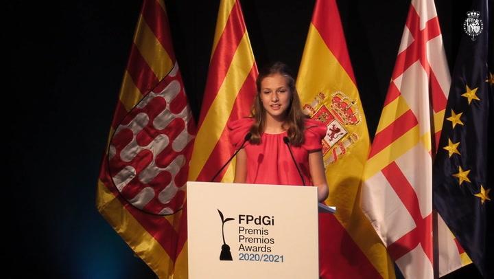 Las palabras de la princesa de Girona: \'Con el trabajo de hoy se construye el mañana, los jóvenes somos la energía que impulsa esa transformación\'