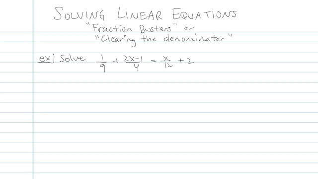 Solving Linear Equations - Problem 4
