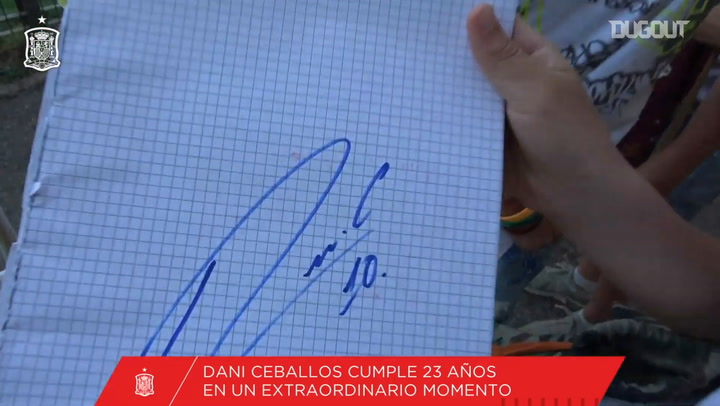 Dani Ceballos's best moments with the Spanish national team