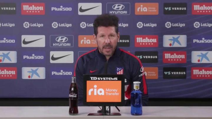 """Simeone: """"Contundencia, equilibrio y hacer un gran partido"""""""
