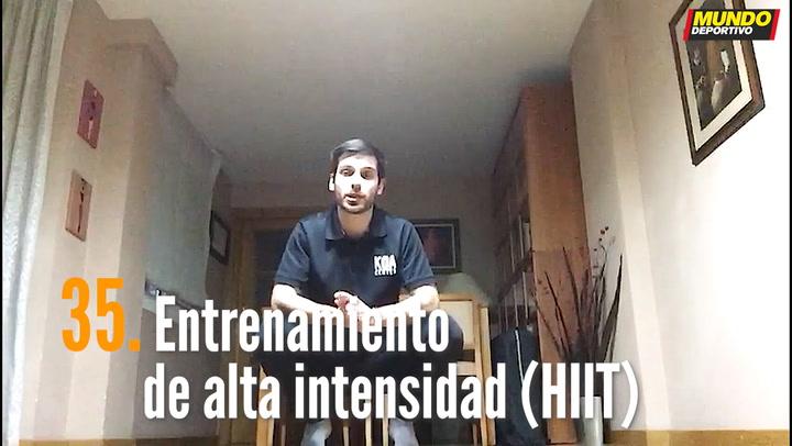 ENTRENA EN CASA (35): Entrenamiento de alta intensidad (HIIT)