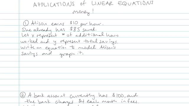 Applications of Linear Equations - Problem 10