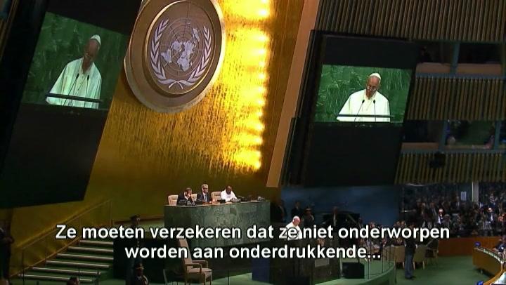 Paus veroordeelt hebzucht grote landen