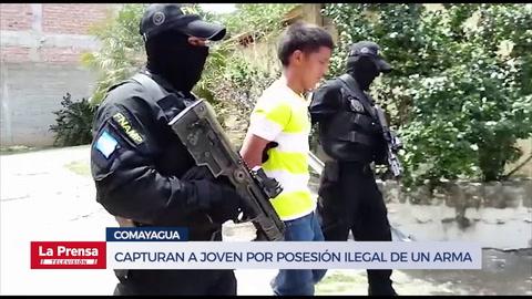 Capturan a joven por posesión ilegal de un arma en Comayagua