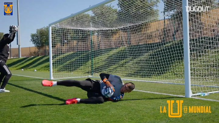 Nahuel Guzmán's intense goalkeeper training at the FIFA Club World Cup