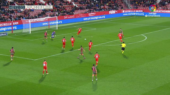 Gol 0003 Girona FC - CD Mirandés J21 MERQUELANZ