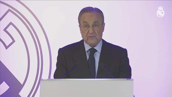 """Florentino: """"El nuevo Santiago Bernabéu será el mejor estadio del futuro"""""""