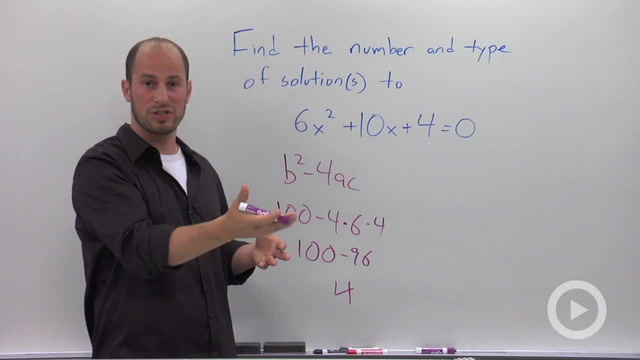 The Discriminant of a Quadratic Equation - Problem 2