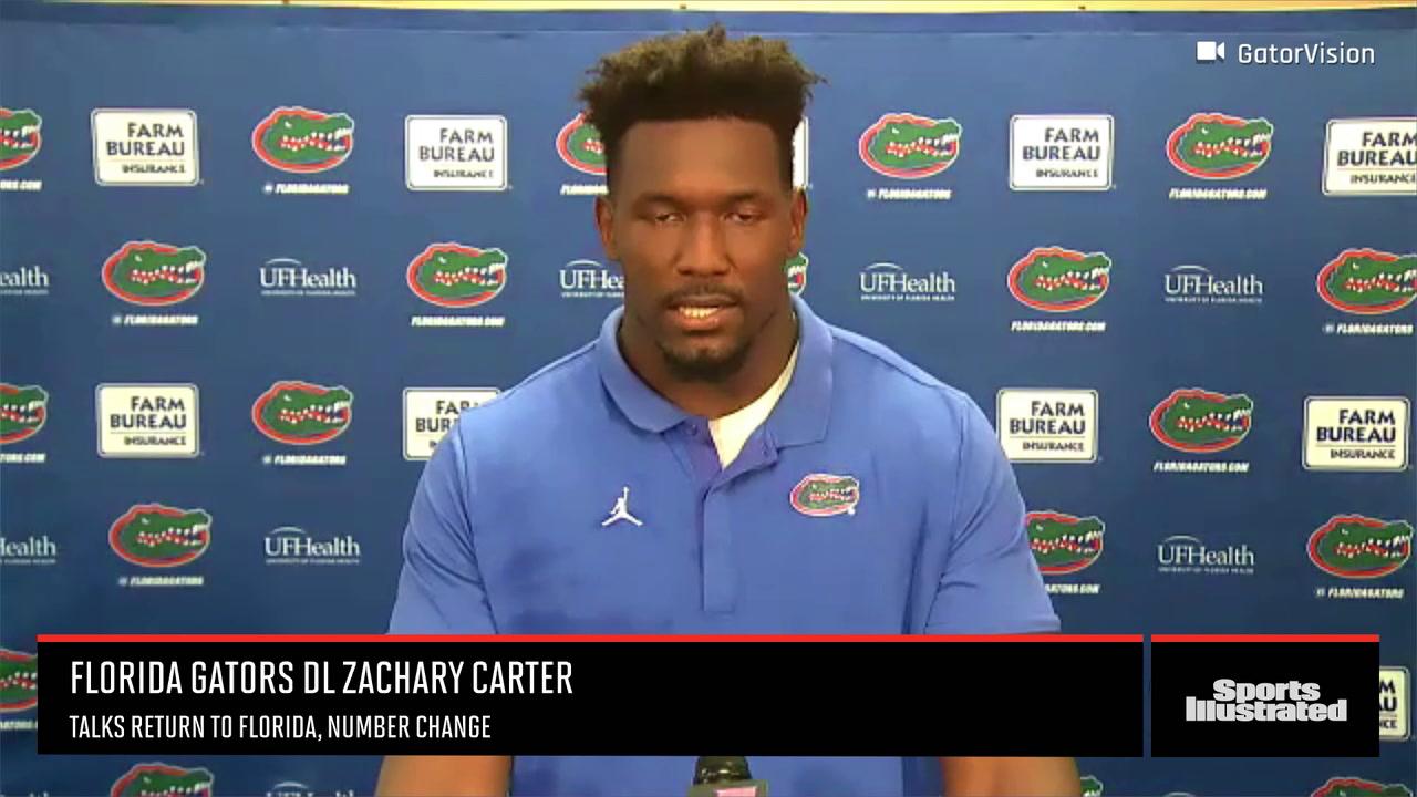 Florida Gators DL Zachary Carter Talks Number Change, Return