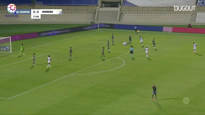 Highlights: Sharjah 5-0 Al-Dhafra