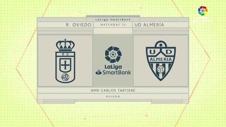 LaLiga Smartbank (Jornada 15): Oviedo 1-2 Almería
