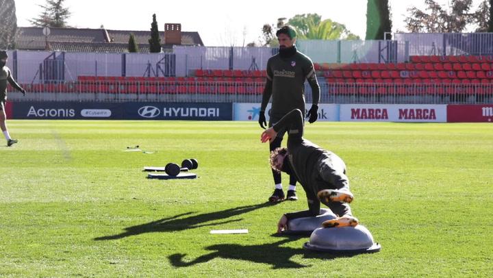 El Atlético de Madrid continúa preparando el partido ante el Getafe