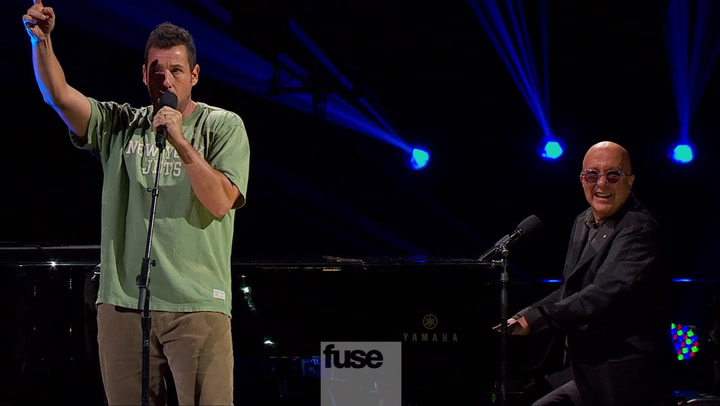 Adam Sandler Performs A Hilarious 'Hallelujah' Cover With Paul Shaffer - 12-12-12 The Concert for Sandy Relief