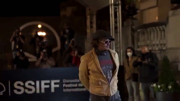 El actor Johnny Depp, durante la presentación de cine