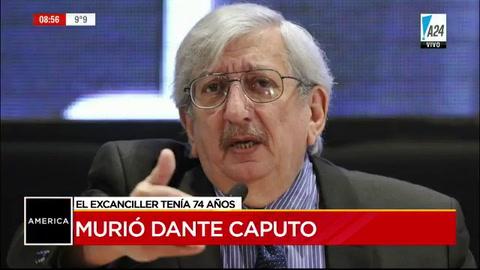 A los 74 años murió Dante Caputo, excanciller de Alfonsín