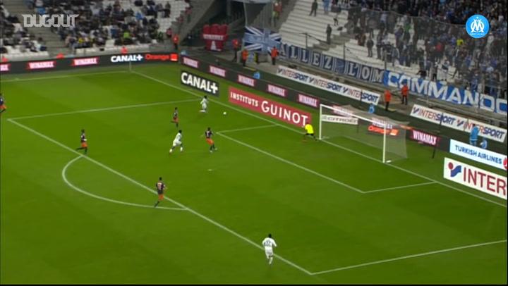 Bouna Sarr's first OM goal vs Montpellier